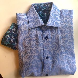 New never worn Men's M Bertigo dress shirt blue